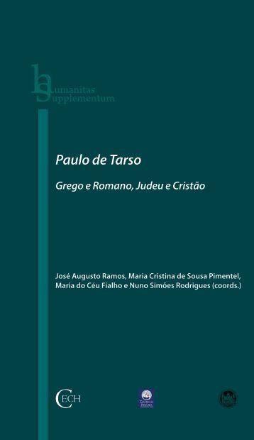 Paulo de Tarso: Grego e Romano, Judeu e Cristão - Universidade ...