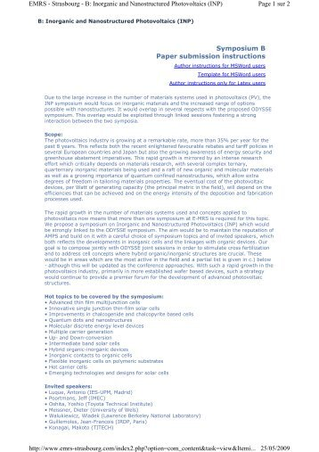 Symposium B Paper submission instructions Page 1 sur 2 EMRS ...