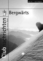 Bergwärts 04 - 2012 - SAC Sektion Bodan
