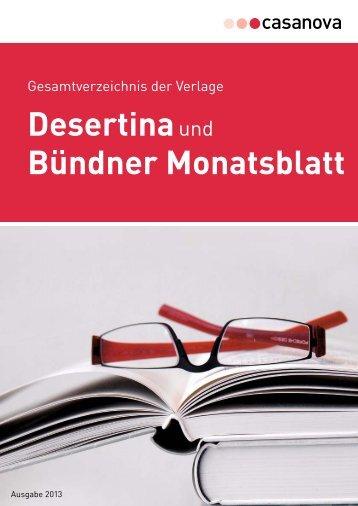Verlagsverzeichnis 2013 als PDF - Casanova Druck und Verlag AG