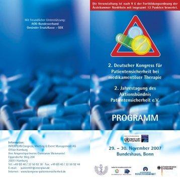 Das Programm als pdf hier zum Download. - Deutscher Kongress für ...