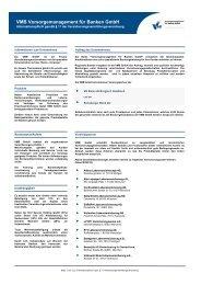 Informationsblatt zur EU-Vermittlerrichtlinie - VR Bank eG Bergisch ...