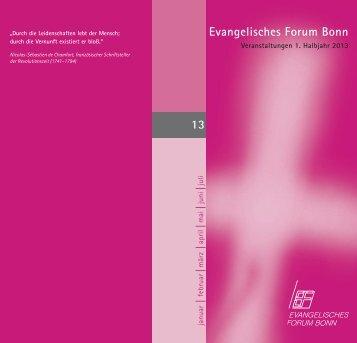 Evangelisches Forum Bonn 13 - Evangelischer Kirchenkreis Bonn