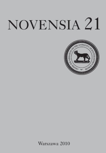 novensia 21 - Osrodek Badan nad Antykiem UW - Uniwersytet ...