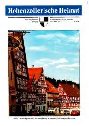 Hohenzollerische Heimat - Hohenzollerischer Geschichtsverein eV