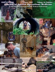 Spring 07 front cover - United States Special Operations Command