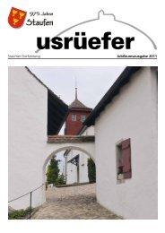Staufner Dorfzeitung Jubiläumsausgabe 2011 - Staufen