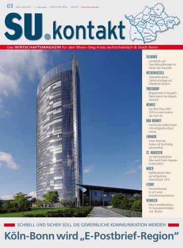 "Köln-Bonn wird ""E-Postbrief-Region"" - GL VERLAGS GmbH"