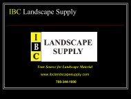 IBC Landscape Supply - Illinois Brick