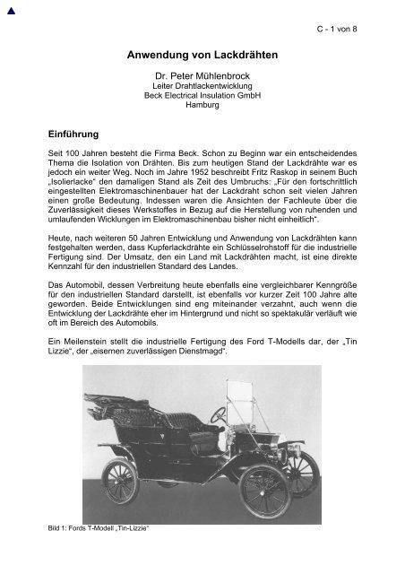 11. Fachtagung Elektroisoliersysteme 2004 - ELANTAS