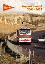Rapport annuel 2002 / 2003 - Les Routiers Suisses
