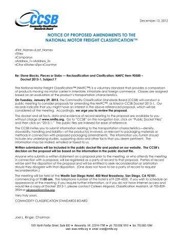 Weg letter 4 oil gas ap for National motor freight traffic association nmfta