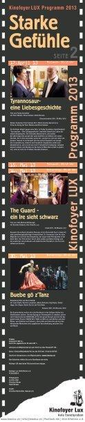 LUX Programm 2013 - Kinofoyer Lux - Seite 2