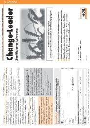 Lehrgang zum zertifizierten Change-Leader - Dr. Stefan Raab GmbH