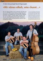15 Jahre Schwyzerörgeli-Quartett Signouergiele