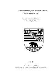 Jahresbericht 2003 Teil II; Landesrechnungshof Sachsen-Anhalt