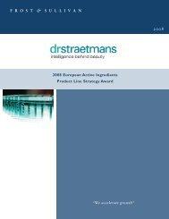 Dr. Straetmans Award Report:Market Insight Template v4.0.qxd.qxd