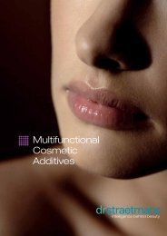 Multifunctional Cosmetic Additives - Dr. Straetmans