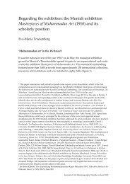 Masterpieces of Muhammadan Art - Journal of Art Historiography