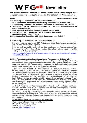 Newsletter - Stadt Wilhelmshaven