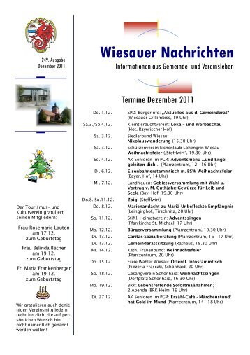 Dezember 2011 - Markt Wiesau