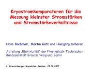 Krystromkomparatoren für die Messung kleinster Stromstärken und ...