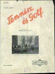 Tennisz és golf 4. évf. 3. sz. (1932. április 22.) - EPA