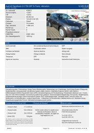 Audi A3 Cabriolet 2.0 TDI DPF DSG Cabriolet Ambition (EURO 5 ...
