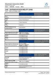 CAD – DATENAUSTAUSCHBLATT (DAB) - Hirschmann Automotive