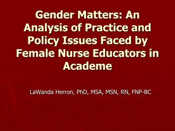 An Analysis Of Practice And Policy - IUPUI