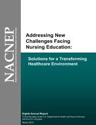 Addressing New Challenges Facing Nursing Education ... - HRSA