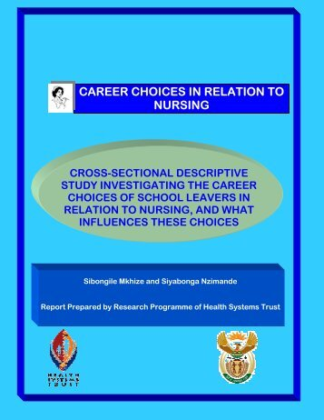 Career Choices in Relation to Nursing - Health Systems Trust