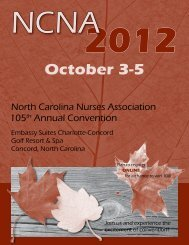 In-Room Book - North Carolina Nurses Association