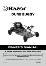 Razor Dune Buggy Owners Manual - ElectricScooterParts.com