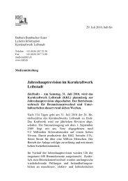 Jahreshauptrevision im Kernkraftwerk Leibstadt