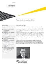 Tax News – April 2009 - Home - Ernst & Young - Schweiz