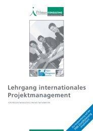 Lehrgang internationales Projektmanagement - Primas Consulting