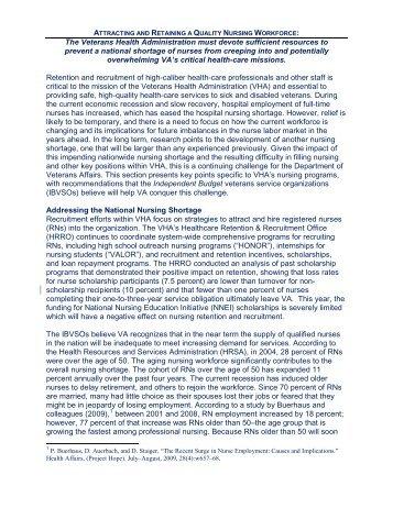 Independent Budget/Nursing Section - Nurses Organization of ...