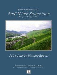 2004 VintageReport.pub - Rudi Wiest Selections