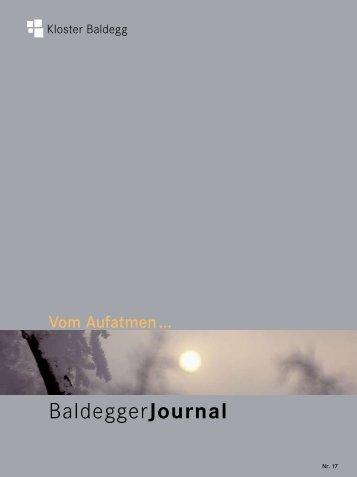 Baldegger Journal - Kloster Baldegg