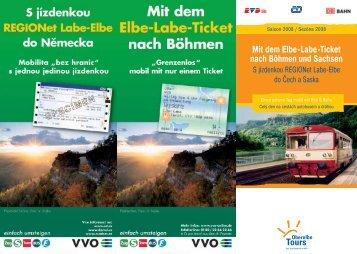Mit dem Elbe-Labe-Ticket nach Böhmen und Sachsen - Euroregion ...
