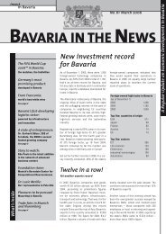 Bavaria in the News No. 61 - March 2006 - Invest in Bavaria