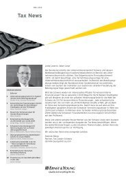 Tax News – März 2010 - Home - Ernst & Young - Schweiz
