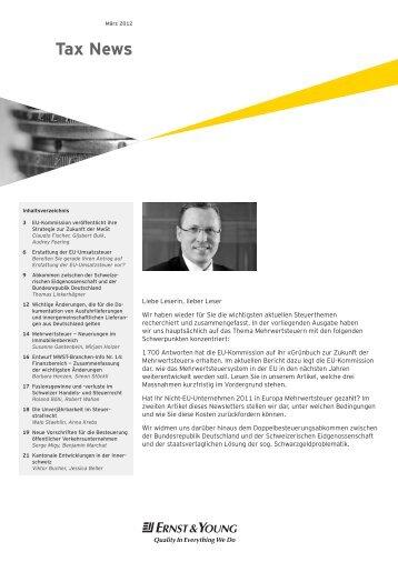 Tax News – März 2012 - Home - Ernst & Young - Schweiz