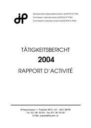 Jahresbericht 2004 - Justitia et Pax