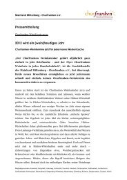 Pressemitteilung - Churfranken