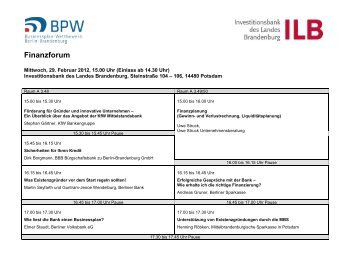 Finanzforum - Businessplan-Wettbewerb Berlin-Brandenburg