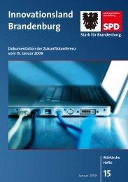 15 Innovationsland Brandenburg - SPD-Landtagsfraktion ...