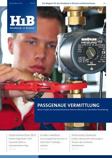 """""""Passgenaue Vermittlung"""" der Handwerkskammer Bremen"""
