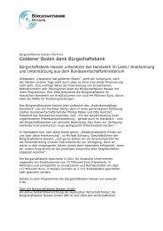 Goldener Boden dank Bürgschaftsbank - Bürgschaftsbank Hessen